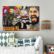 Denzel Monopoly by Alec Canvas Painting Living Room Home Decoration Modern Wall Art Oil Posters Pictures
