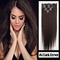 Clipe barato em extensões do cabelo reto natural extensões grampo de cabelo 7 unidades/pacote 100 g/pacote clipe ins fixação conveniente usar 20''22''