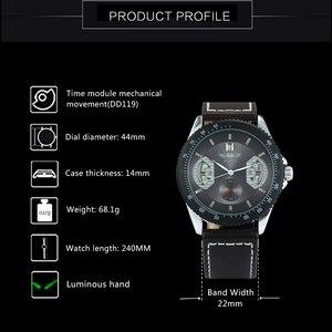 Image 3 - WINNER Reloj Automático oficial para hombre, correa de cuero, deportivo, de pulsera, mecánico, de negocios, informal