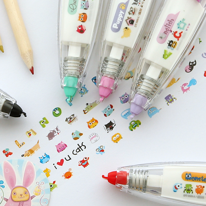 Cute Kawaii Animals Press Type DIY Decorative Correction Tape Diary Stationery School Supplies