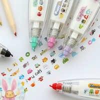Nette Kawaii Tiere Drücken Sie Typ DIY Dekorative Korrektur Band Tagebuch Schreibwaren Schule Liefert