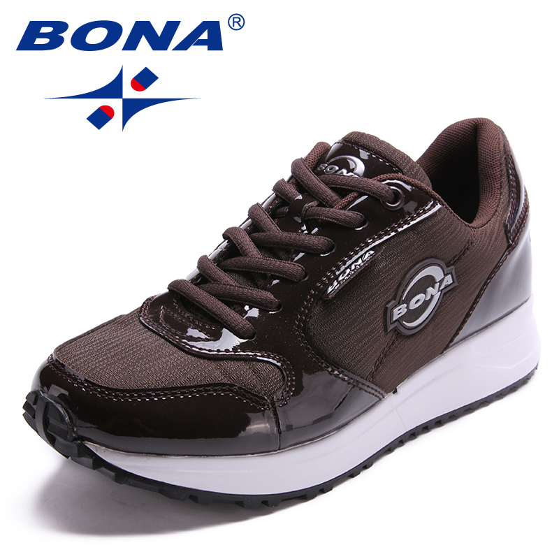 BONA nouveauté Style populaire femmes chaussures de marche en plein air Jogging baskets chaussures à lacets chaussures de sport confortable livraison gratuite