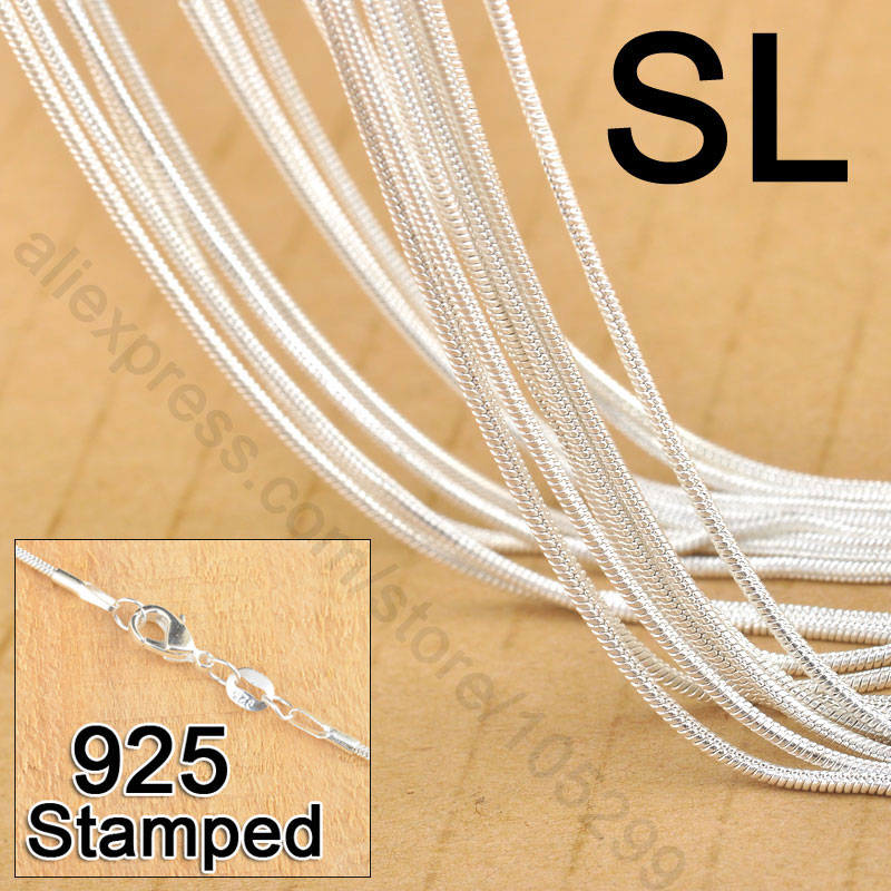 Sterling Silver 925 SNAKE 050-1.9MM CHAIN W// LOBSTER LOCK AND GIFT BOX