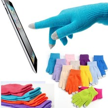 NEW MagicTouch Screen GlovesThin Cotton Gloves Smartphone for iphone Stretch Winter Warm Full Ginger Knitted Glove men women