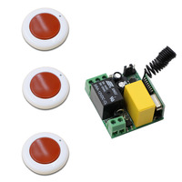 AC 220V 1 CH 1CH 10A Relay Remote Switch Wireless Power Remote Control Switch System Receiver