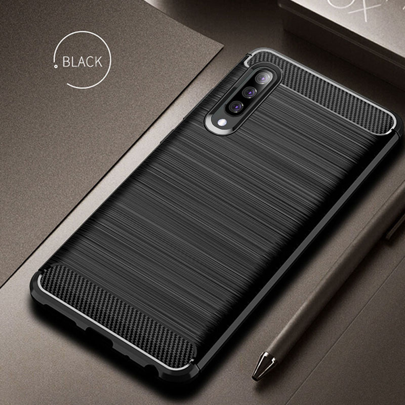 Carbon Case For <font><b>Samsung</b></font> Galaxy <font><b>A70</b></font> A50 A40 A30 A20 Case Back Cover Silicon Soft TPU Bumper For <font><b>Samsung</b></font> <font><b>A70</b></font> A50 A40 A30 A20 Case image