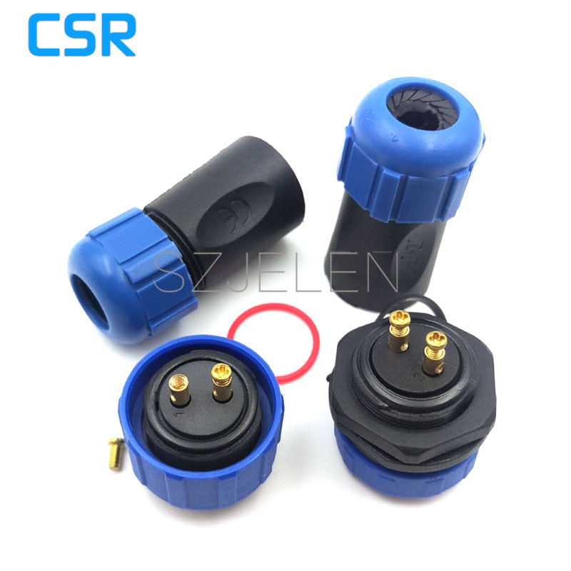 SP2110, waterproof Connector 2 pin male+female , LED connection, Easy to install outdoor cable connector plug socket rp sma female to y type 2x ip 9 ms156 male splitter combiner cable pigtail rg316 one sma point 2 ms156 connector for lte yota