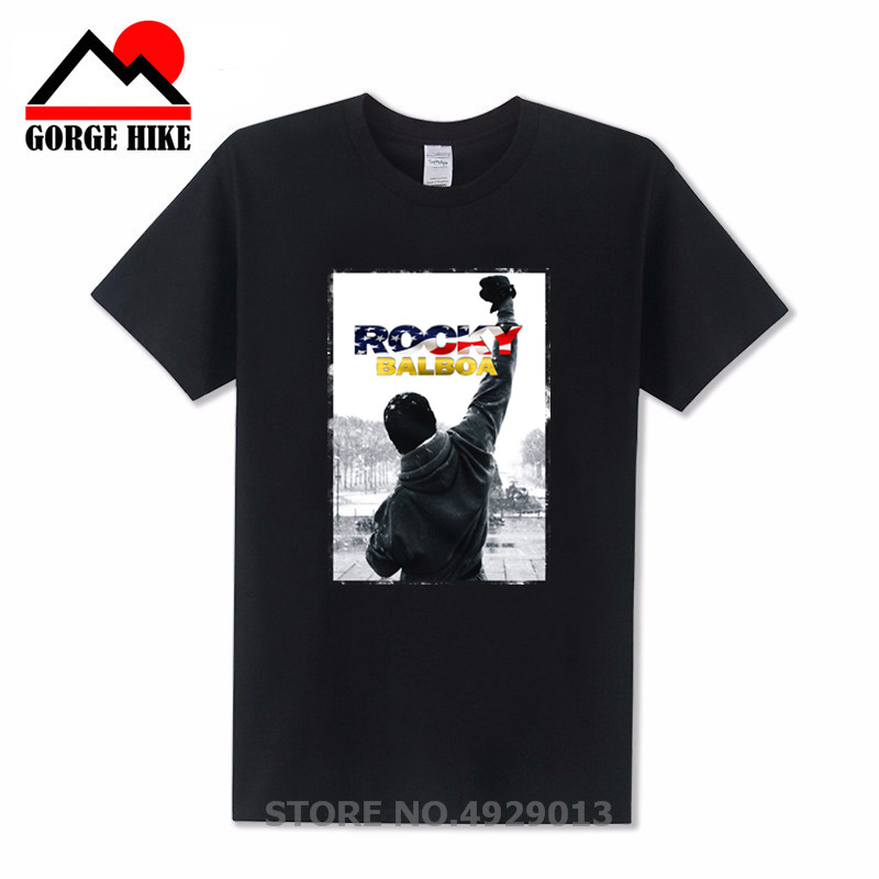 2019 Fashion American Hero Men ROCKY BALBOA Printed MMA T Shirts Famous Boxing Movie ROCKY BALBOA POSTER t-shirts Top Tee Shirts image