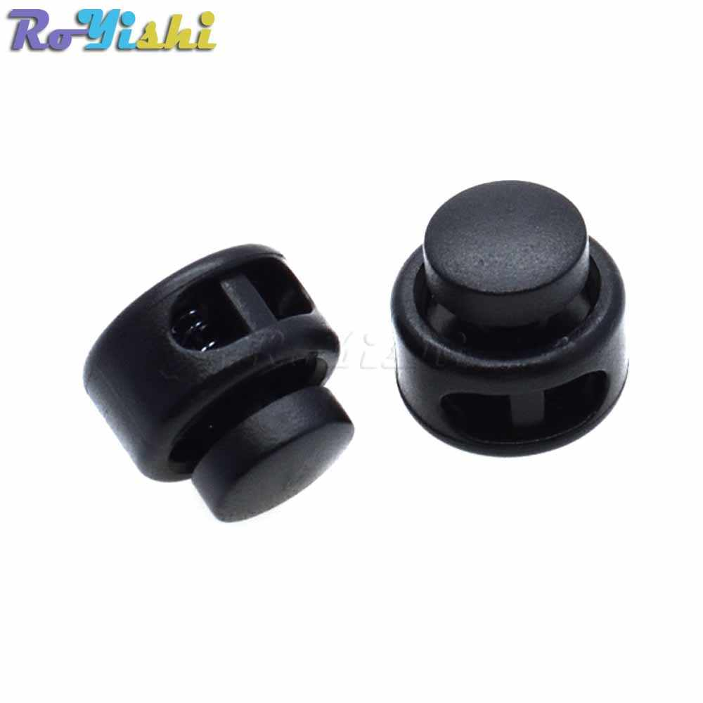 10 sztuk/paczka blokada sznurka stoper do sznurka korek plastikowy czarny do torebek/odzieży rozmiar: 15mm * 14mm