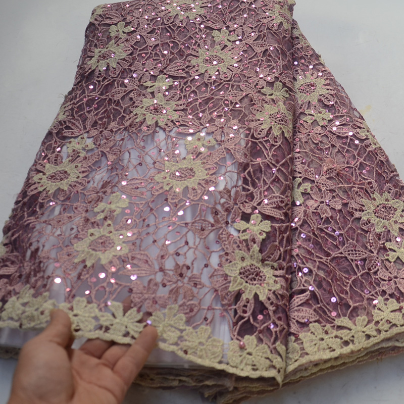 5yards pc 2019 newest African tulle lace dusky pink French net lace fabric with gorgeous