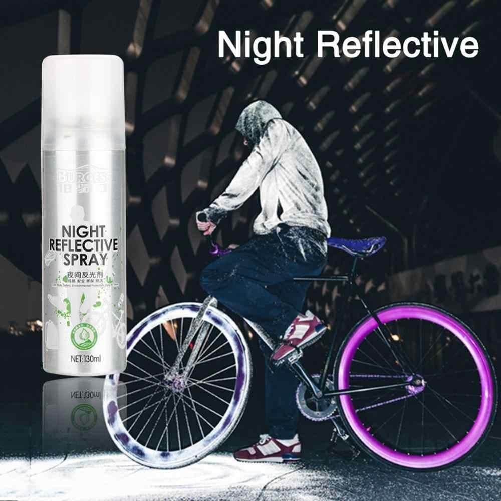 Pintura de aerosol reflectante de noche seguridad exterior reflectante marca Anti accidente bicicleta correr pintura de fluorescencia reflectante #10