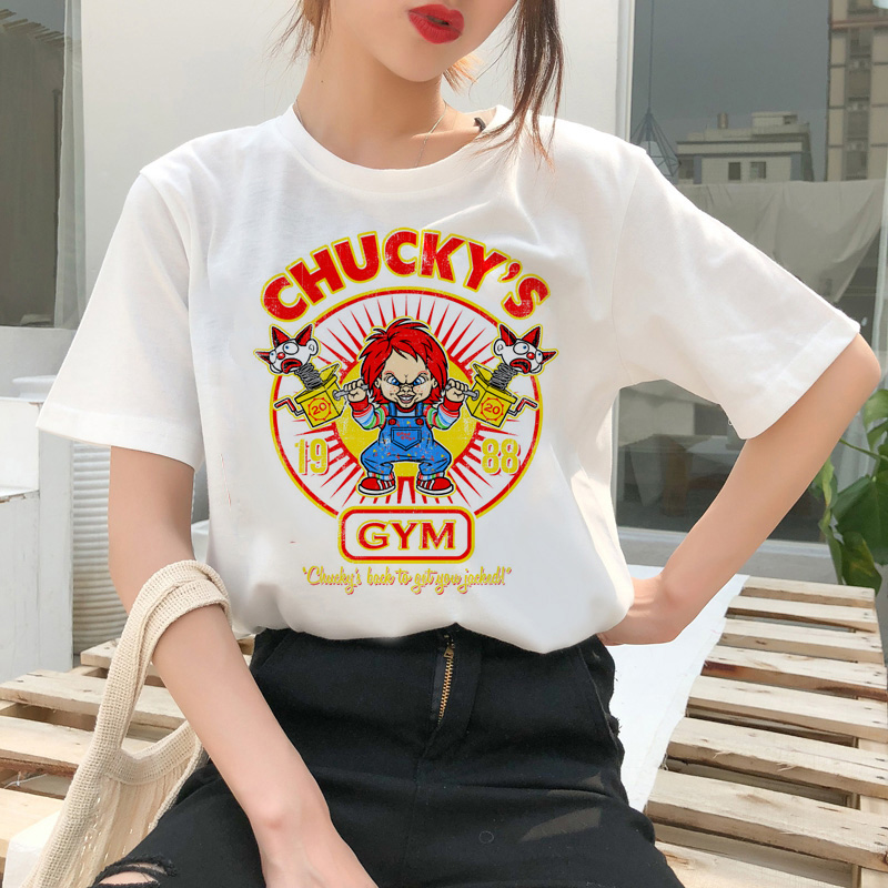 chucky t shirt Horror High cool women top Quality new streetwear tee t-shirt fashion ulzzang female shirts femme new tshirt 8