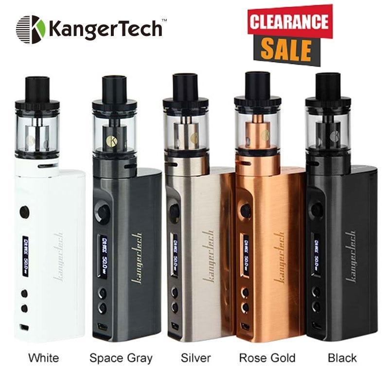 100% Kangertech Subox Mini-C Vaporisateur Kit Subox Mini C 50 W Boîte Mod avec 3 ml Protank 5 AUCUN 18650 Batterie Électronique Cigarette Vaporisateur Kit