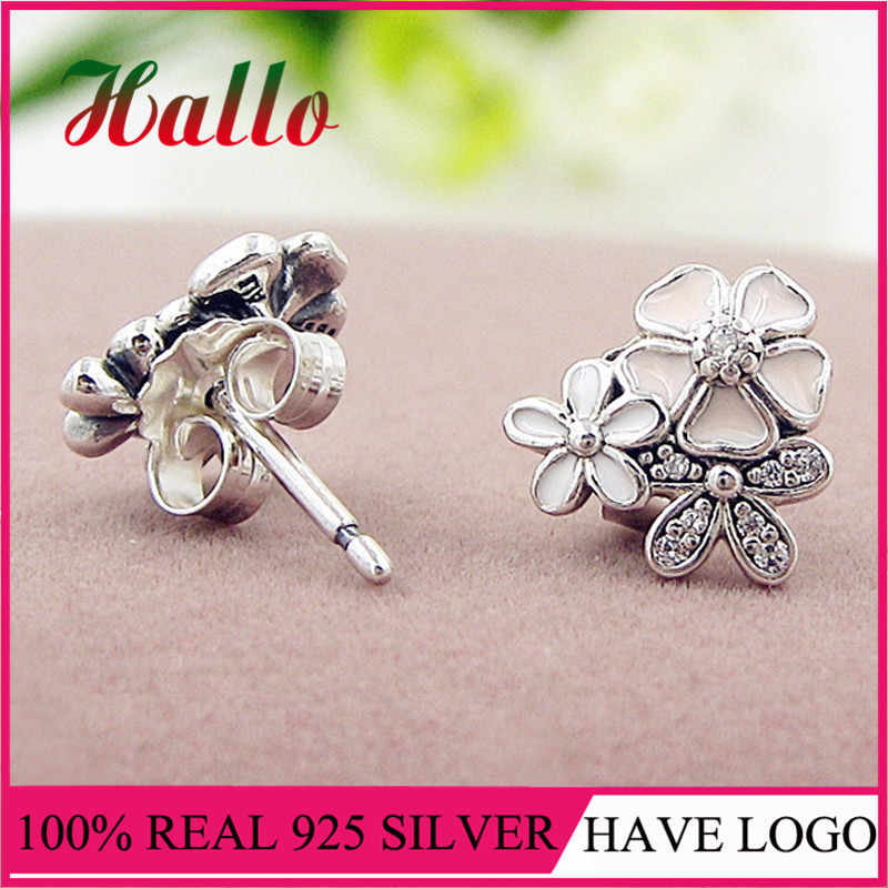 High Quality Real 925 SilverPoetic Blooms Mixed Enamels Stud Earrings.Fashion Earrings Set for Women Wedding. Wholesale Discount