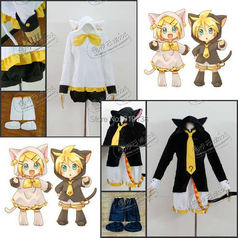 Lovely VOCALOID kagamine Len black cat cosplay costume ...