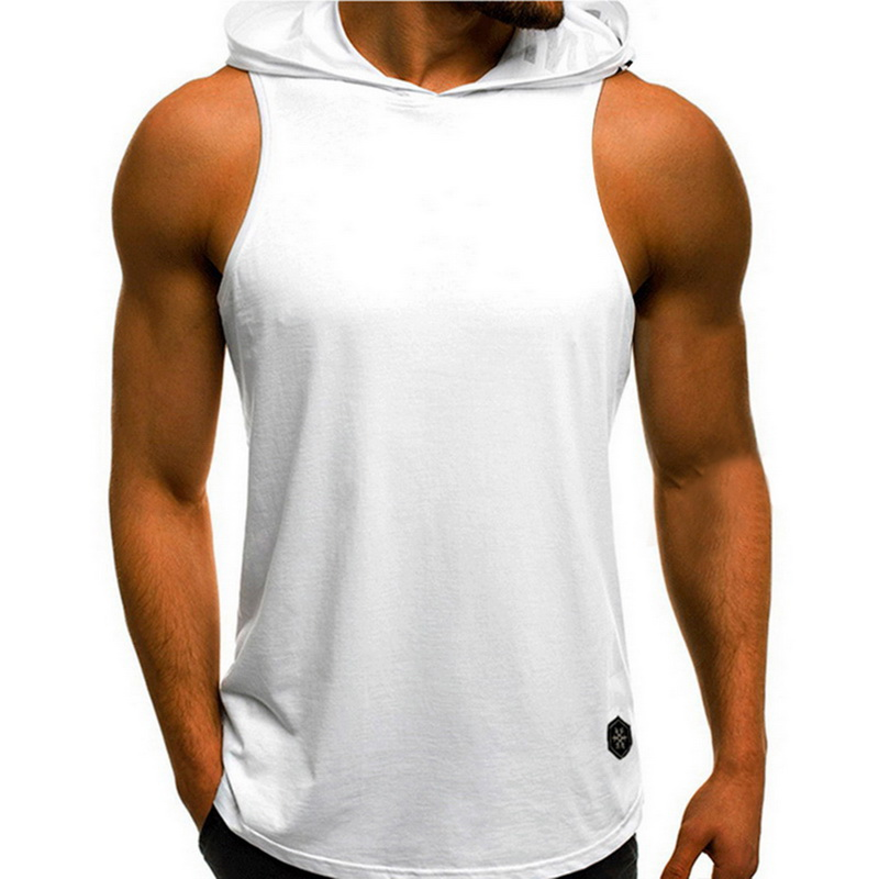 Oeak Mens Sleeveless Hoodie Bodybuilding Workout   Tank     Tops   2019 New Muscle Fitness Shirts Male Loose Jackets Gyms Singlet