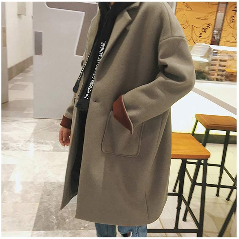 2019 Winter Fashion Loose Casual Men Coats Wool Blends Overcoats Cashmere Long Windbreaker Outerwear Clothes M-2XL DS50820