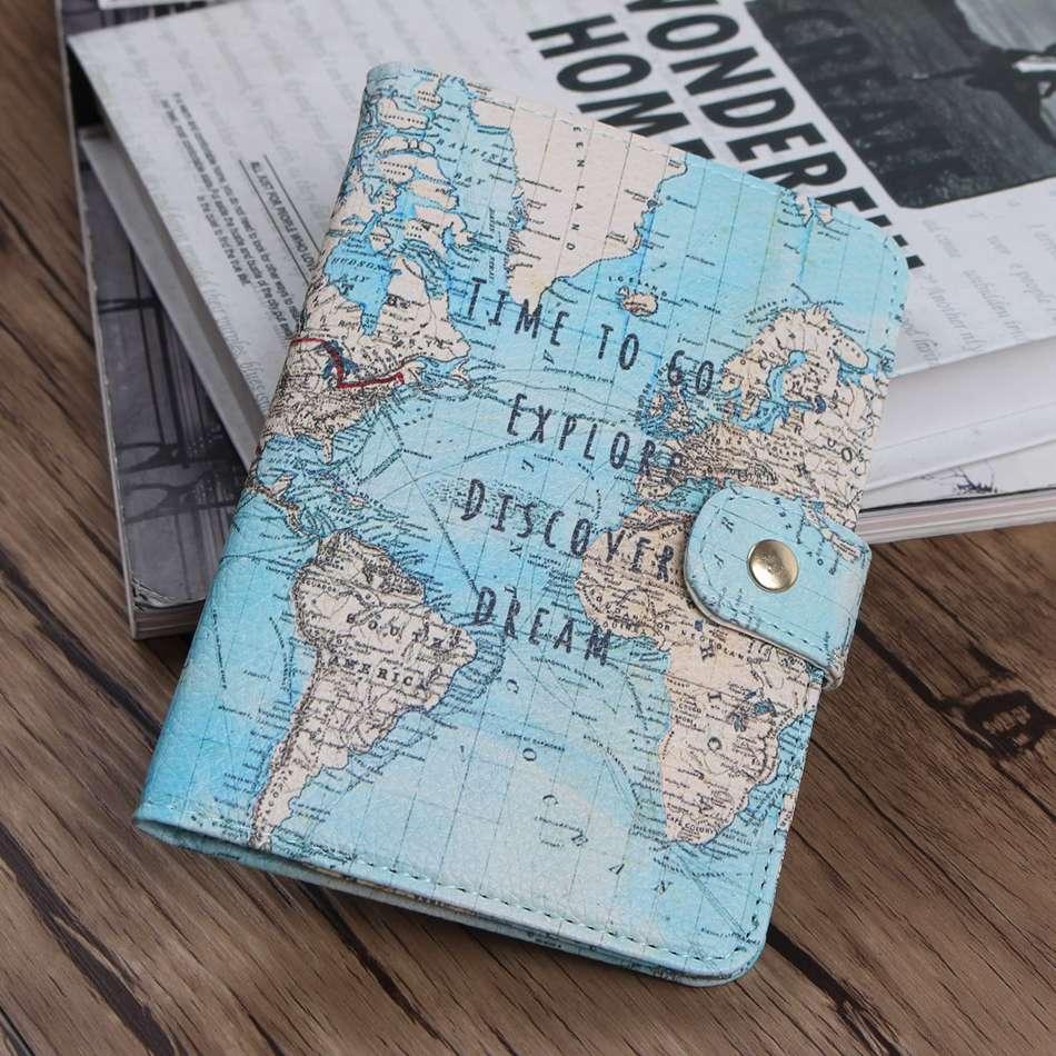 Flamingo Map Passport Covers Travel Accessories Creative PU Leather ID Bank Card Bag Men Women Passport Business Holder 14*9.6cm