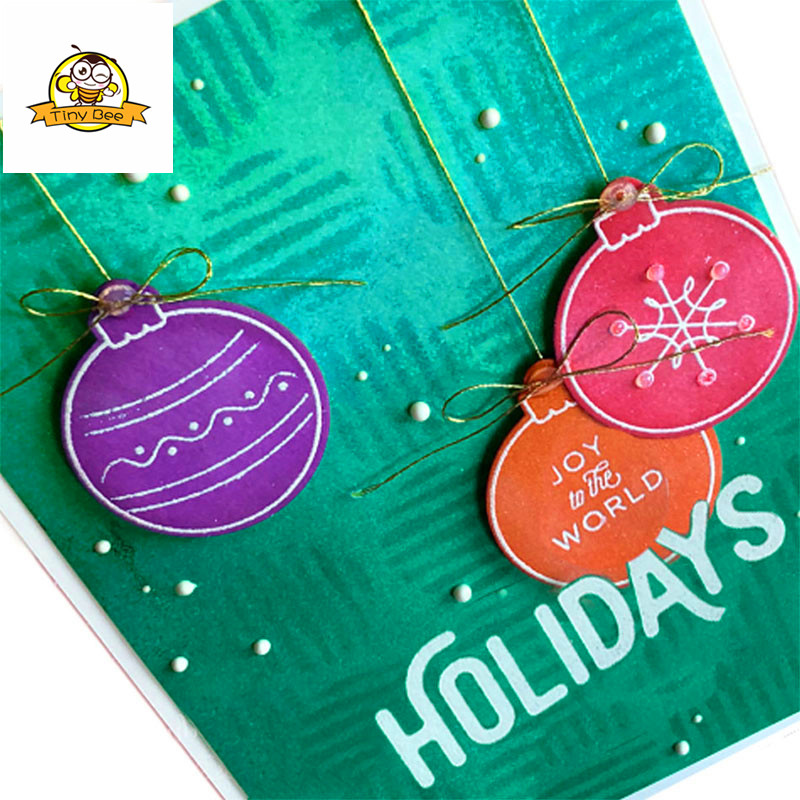 Holiday Words Bell Transparent Clear Silicone Stamp Seal for DIY scrapbooking photo album Decorative clear stamp sheets in Cutting Dies from Home Garden