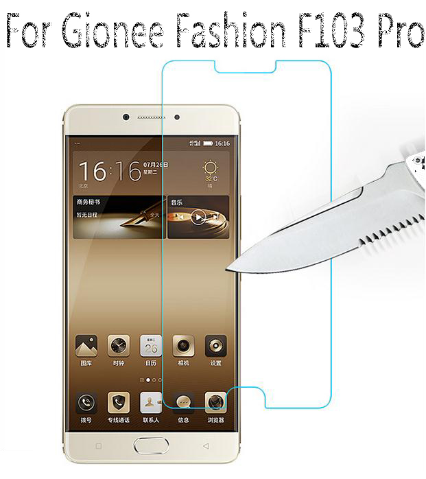 registered+Free Shipping for <font><b>Gionee</b></font> Fashion <font><b>F103</b></font> Pro Thin Anti-Explosion Cell Phones Tempered Glass <font><b>Screen</b></font> Protector Guards image