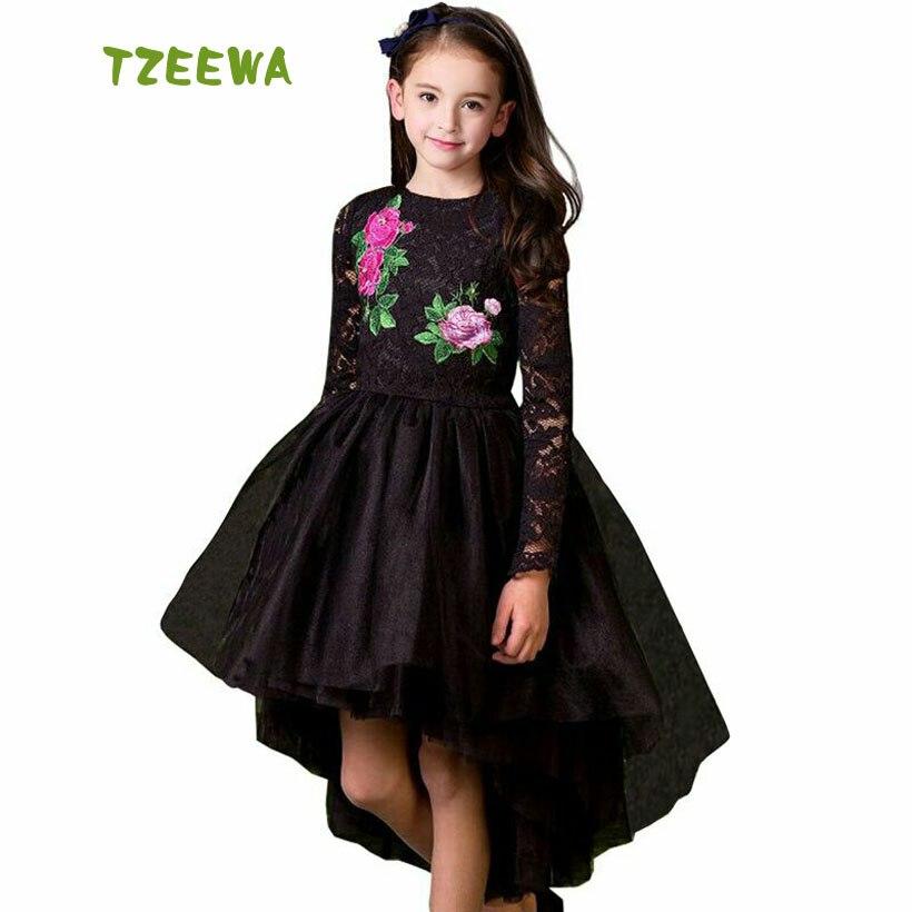 Vestido De Festa Infantil 2018 New Spring Party Dress For Girls Floral Robe Enfant Fashion Tlddler Girl Princess Dresses princess girls dress 2017 new fashion spring