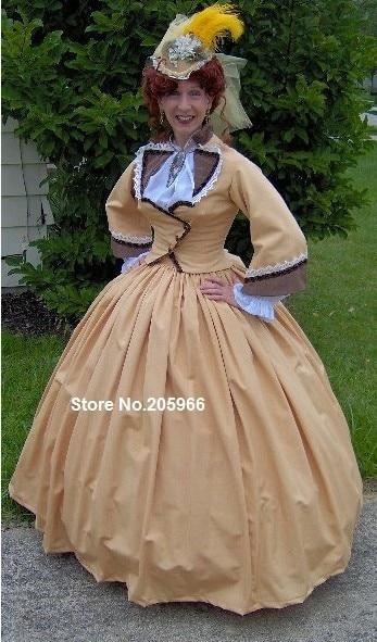 1800S Victorian Dress 1860S Civil War Gown Walking -3284