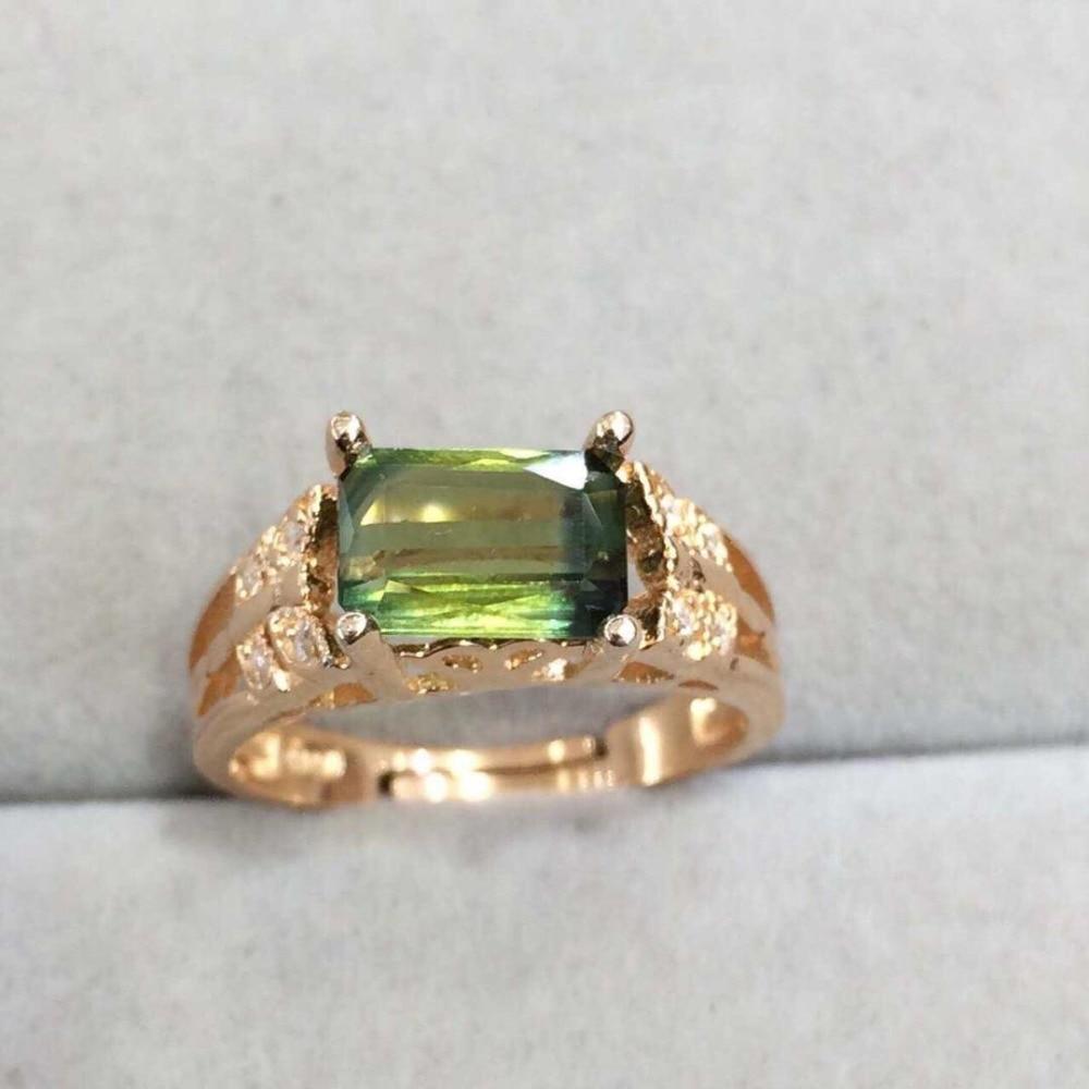 купить Anillos Qi Xuan_Fashion Jewelry_Tourmaline Stone Elegant Woman Rings_Plated Rose Gold Fashion Rings_Manufacturer Directly Sales онлайн