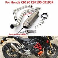 Выхлопная система мотоцикла скольжения на переднее соединительное соединение трубы побега с дБ глушитель для Honda CB190 CBF190 CB190R