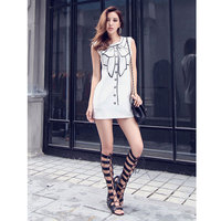 Europe And The United States Spring And Summer New Casual Round Neck Sleeveless Short Stretch Vest