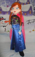mascot Fast Custom Hot Sale Anna Mascot Costume Fancy Party Dress Suit Carnival Costume Free Shipping