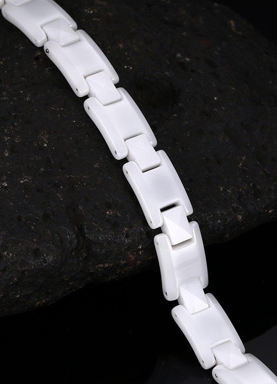 Купить высококачественные белые керамические браслеты для женщин черные