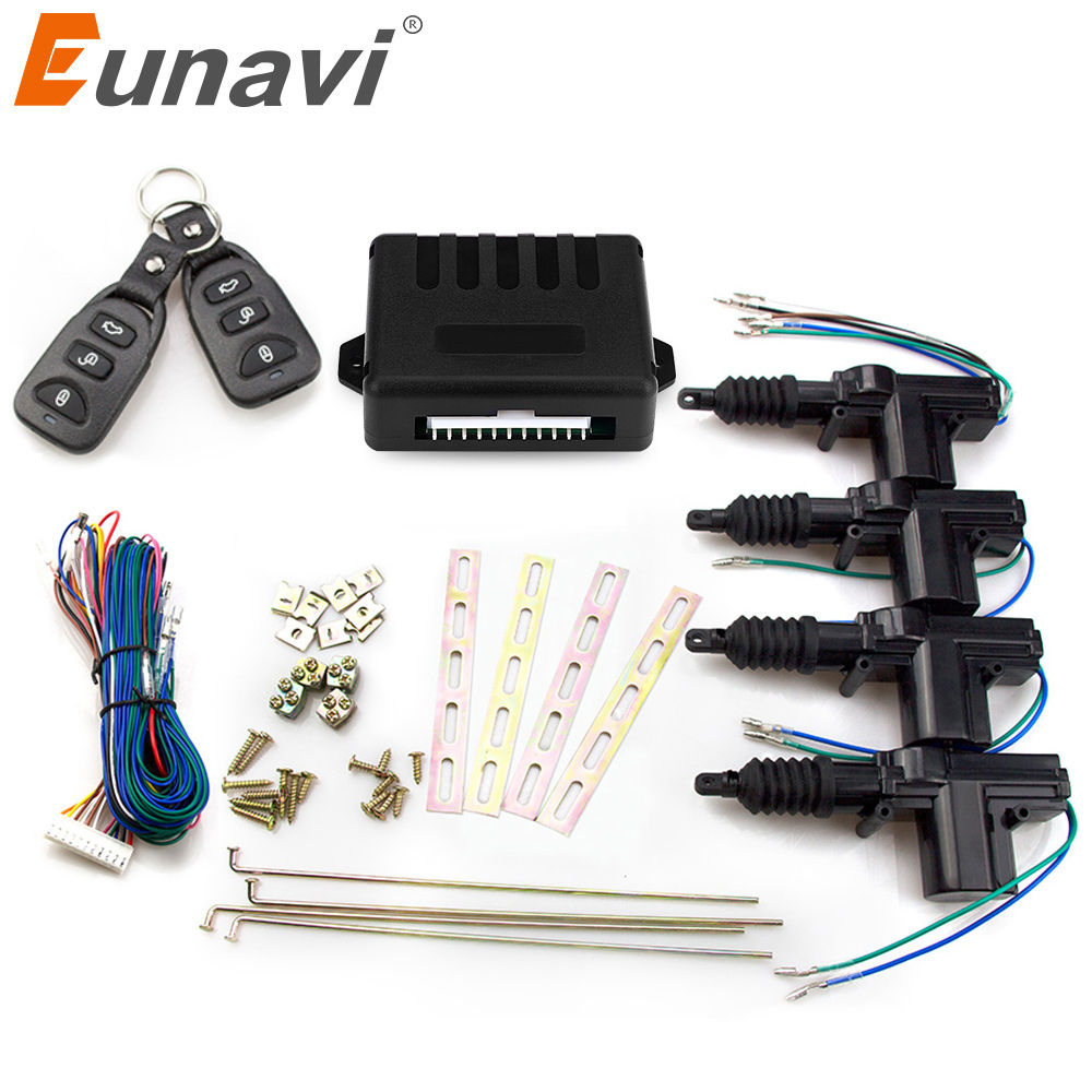 Eunavi Universal Car Power Door Lock Actuator 12-Volt Motor (4 Pack) Car Remote Central Control Locking Keyless Entry System