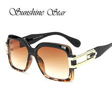 Pop Age Hotselling Oversized Leopard Sunglasses Women Men Brand Designer Square Sun Glasses Retro Oculos de sol UV400
