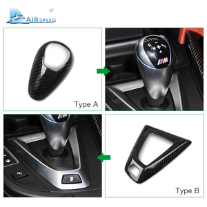 Image 2 - Airspeed Carbon Fiber Gear Knob Cover for BMW M2 F87 M3 F80 M4 F82 F83 M5 F10 F85 X5M F86 X6M F12 F13 Accessories Car Styling