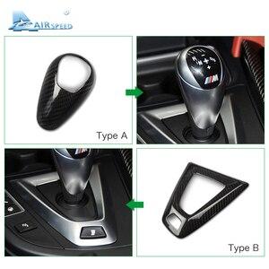 Image 2 - Airspeed couvre pommeau en Fiber de carbone, pour BMW M2 F87 M3 F80 M4 F82 F83 M5 F10 F85 X5M F86 X6M F12 F13, accessoires pour décoration de voiture