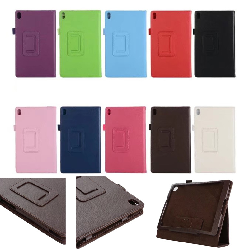 Business Litchi Flip Stand Case For Lenovo TAB4 8 Plus PU Leather Case for Lenovo TAB 4 8 Plus TB-8704F TB-8704N Tablet Case genuine leather case for lenovo tab 4 8 plus cover cowhide tab48plus protective protector tb 8704f tb 8704n l tablet cases 8 0