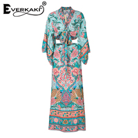 Everkaki Summer Lotus 2 Piece Set Women Boho Floral Print Spaghetti Strap Crop Top Casual V Neck Tank And Split Skirt 2018 Hot