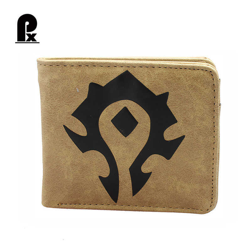 GameThe World of Warcraft Wallets PU Leather Slim Small Wallet WOW Alliance Horde Flag Purse Cool Movie Game Wallet for Men diesel dz7269