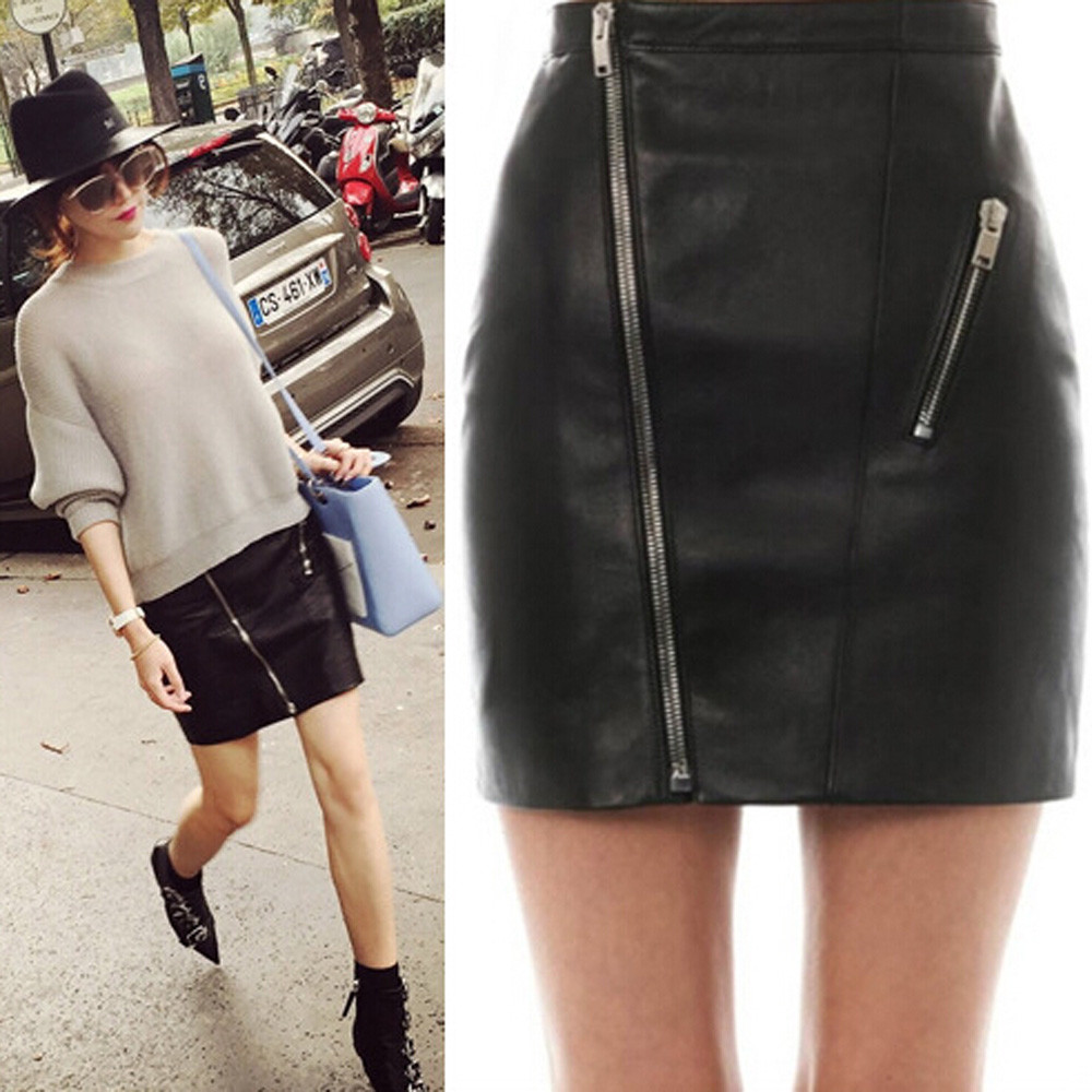 Online Get Cheap Leather Mini Flare Skirt -Aliexpress.com ...