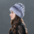 Venda 2016 gorros de inverno coelho rex chapéu de pele de malha para mulheres chapéu de pele com pele de raposa flor top tamanho livre das mulheres casuais chapéu