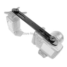 iShoot Metal Dual DSLR Camera Holder Flash Bracket Mount Support for 1/4″ Tripod/Photo Studio Light Stand