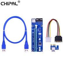 Chipal ver006 pci-e riser cartão pci express pcie 1x a 16x cabo de extensão 100cm 60cm usb 3.0 cabo para mineração btc mineiro bitcoin