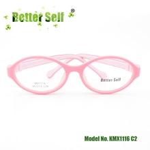 Better Self KMX1116 Oval Optical Frame Safe Glasses Flexible Eyewear Child Eyeglass Frames
