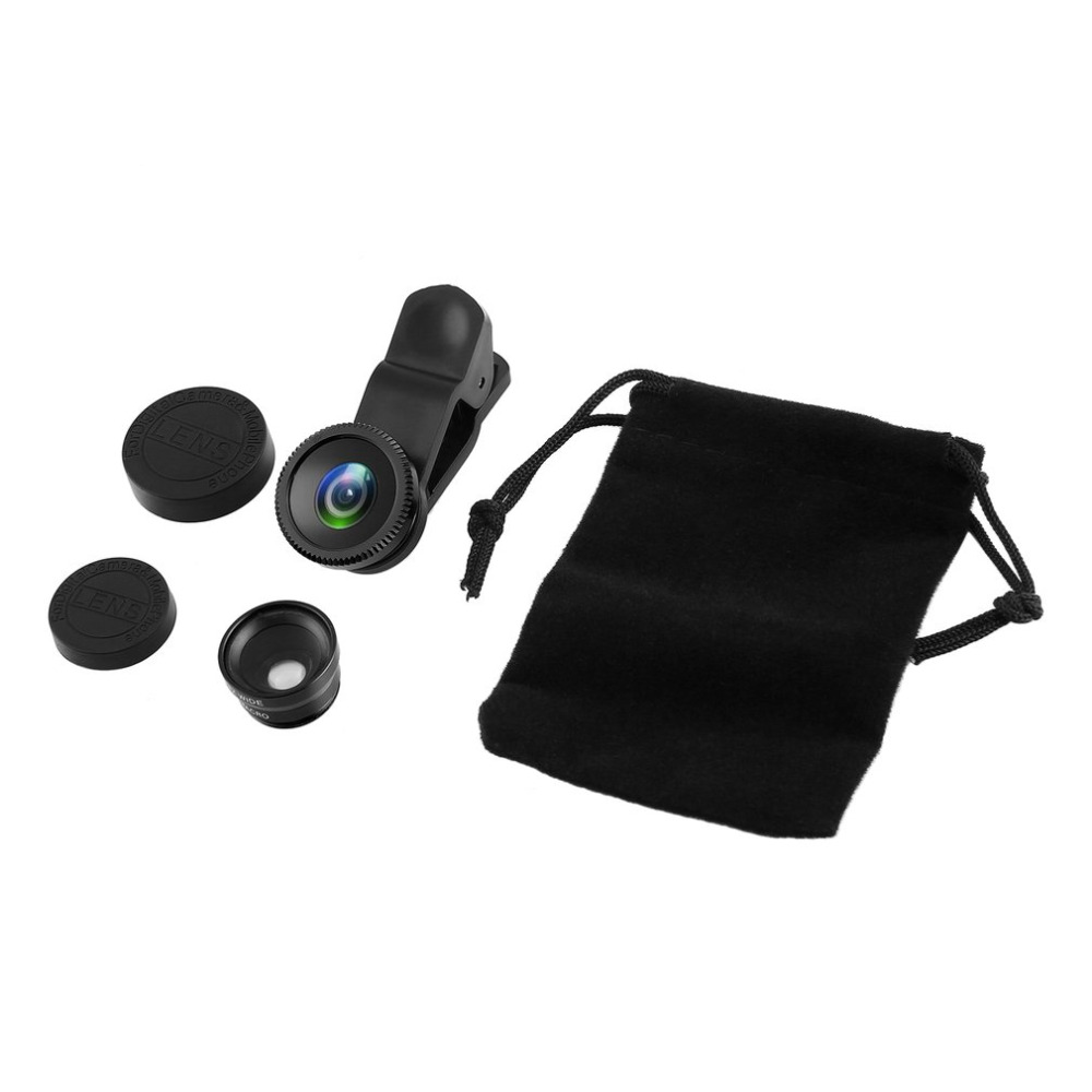 Monocular Binoculars 3 in 1 Wide Angle Macro Fisheye Lens Camera Mobile Phone Lens Portable Parts Universal For iPhone Android
