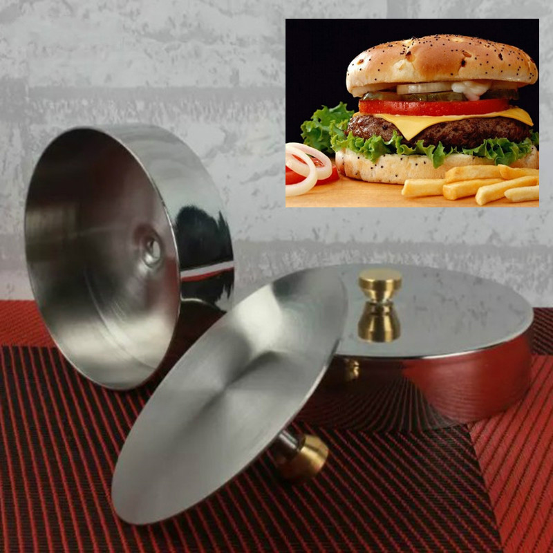 Stainless steel Meatloaf Tools Burger Maker Stuffed Hamburger Press Burger Making Tool Sandwiches Patties Diam 9cm 3.5'' image