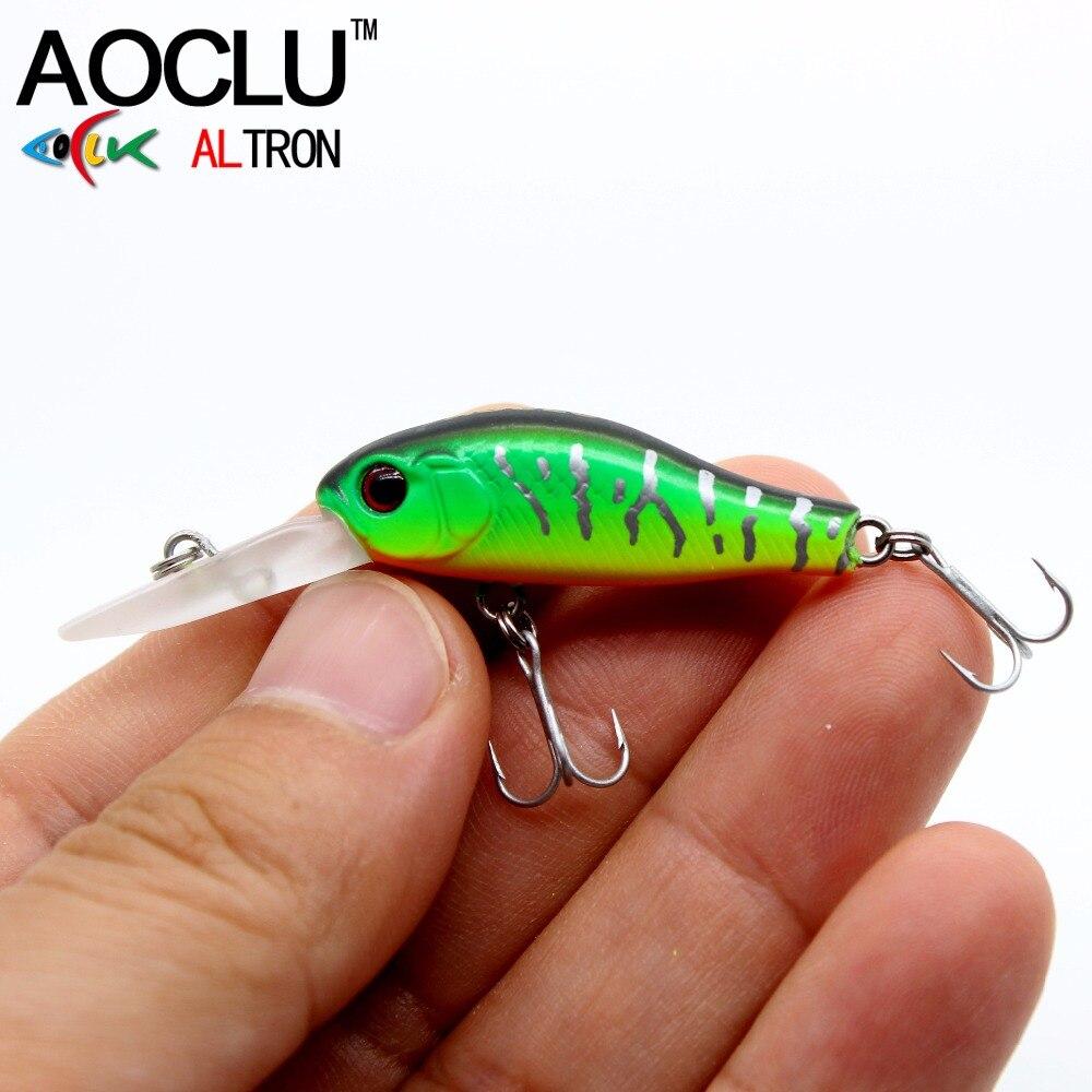 AOCLU wobblers Jerkbait 7 Colors 35cm 2.4g Hard Bait Minnow Crank Fishing lures Bass Fresh Salt water 14 VMC hooks
