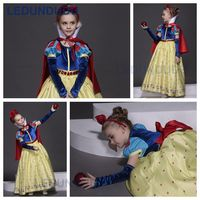 2018 New Arrival High Quality Snow Whit Cosplay Costume For Kid Girls Princess Gem Dress Children
