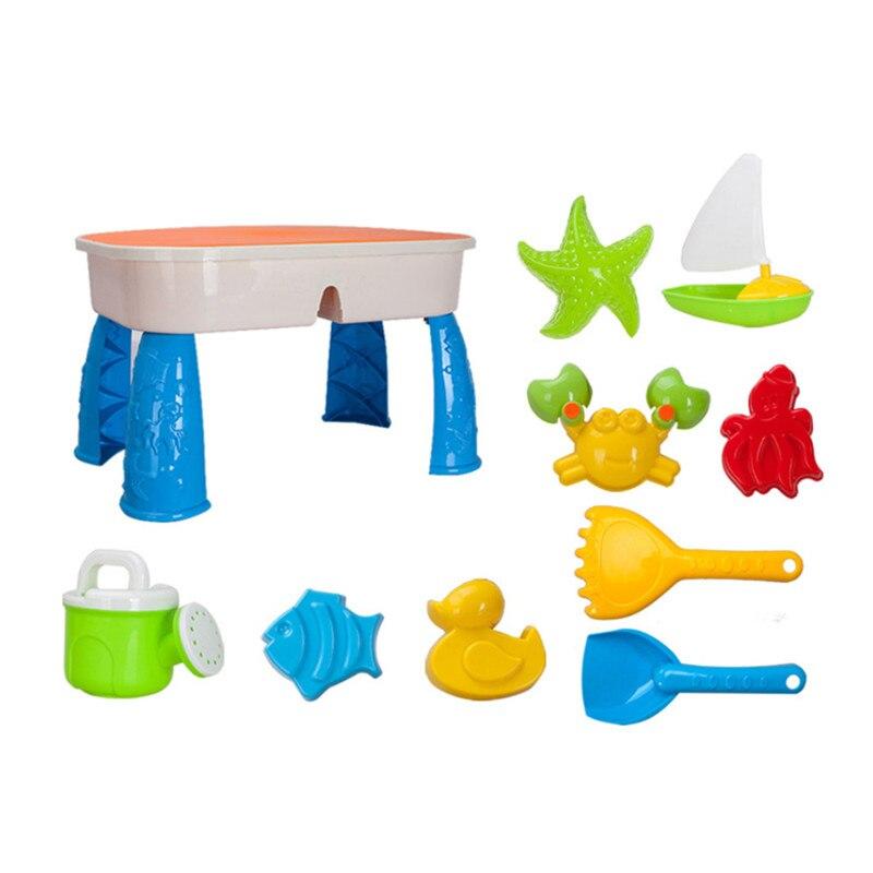 Ensemble de jouets de sable de plage Portable outils de pelle à creuser jouet de jeu d'eau de bain jeu de bord de mer sable matériau souple été
