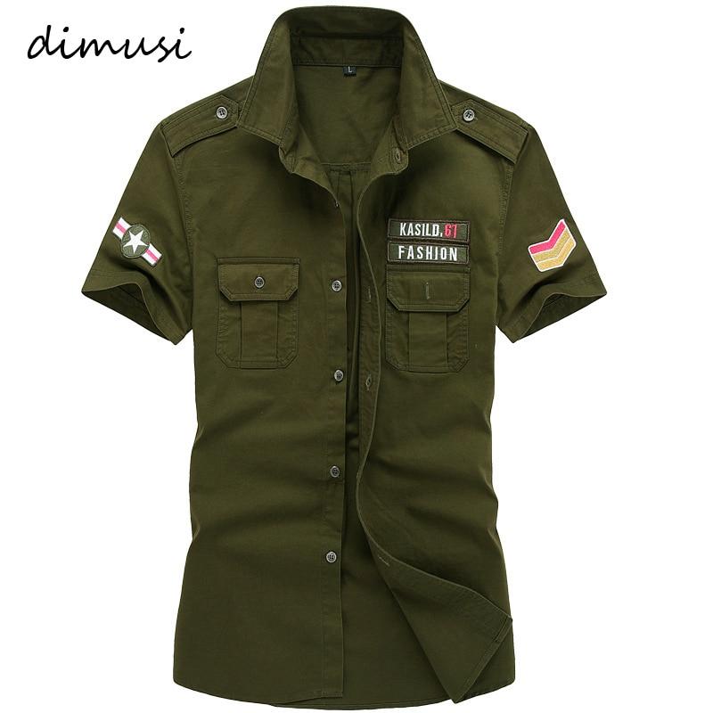 DIMUSI Summer Mens Shirts Male Army Military Camouflage Short Sleeve Cotton Shirts Men Business Shirt Brand Clothing 6XL,TA090 1