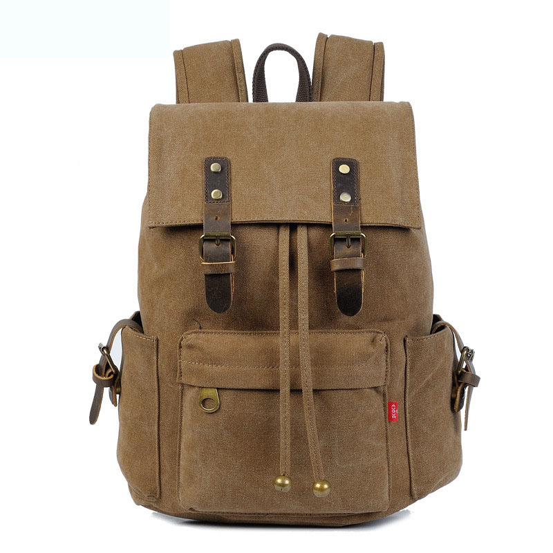 2017 Trendy New Canvas Bacpack Men And Women Designer Casual Schoolbag Students Travelling Laptop Bag Fashion Cowhide